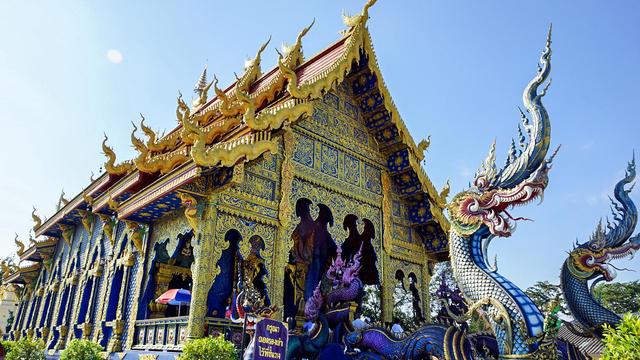 【景點】 清萊最美麗的佛廟 - 藍廟